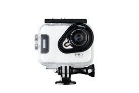 3Gスマート WIFI スポーツ カメラ HD 1300万画素40メートル潜水防水5G 150度広角 レンズ2.6インチ LCD 2.4G無線RF Camera Gopro A11-White