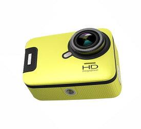 3Gスマート WIFI スポーツ カメラ HD 1300万画素40メートル潜水防水5G 150度広角 レンズ2.6インチ LCD 2.4G無線RF Camera Gopro A11-Yellow