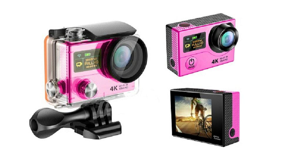 4K WIFI スポーツ カメラ HD 1200万画素 170度超広角2インチ LCD 20M 1対多い リモコン GoproH3R_Red