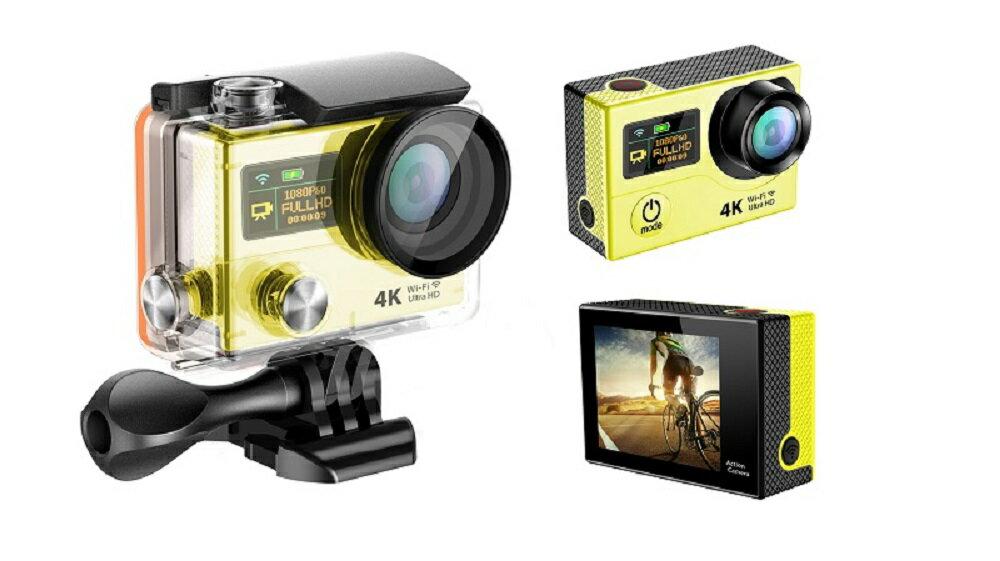 4K WIFI スポーツ カメラ HD 1200万画素 170度超広角2インチ LCD 20M 1対多い リモコン GoproH3R_Yellow