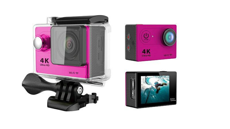 4K WIFI 30M 防水スポーツ カメラ HD 1200万画素 170度超広角2インチ LCD 20M 1対多い リモコンGoproH9R_Red