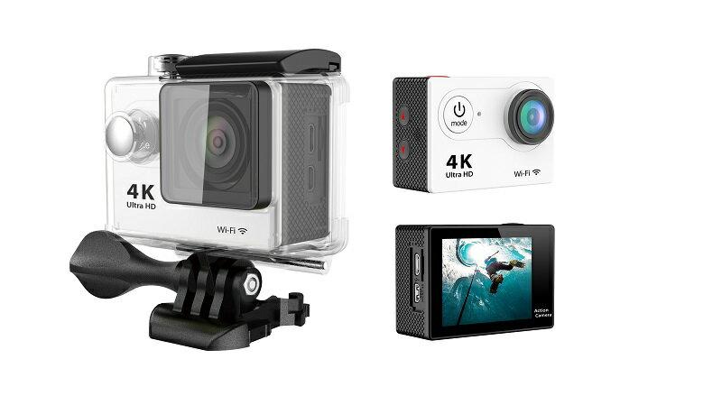 4K WIFI 30M 防水スポーツ カメラ HD 1200万画素 170度超広角2インチ LCD 20M 1対多い リモコンGoproH9R_White