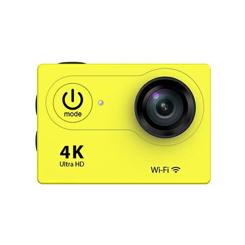 4K WIFI 30M 防水スポーツ カメラ HD 1200万画素 170度超広角2インチ LCD 20M 1対多い リモコンGoproH9R_Yellow