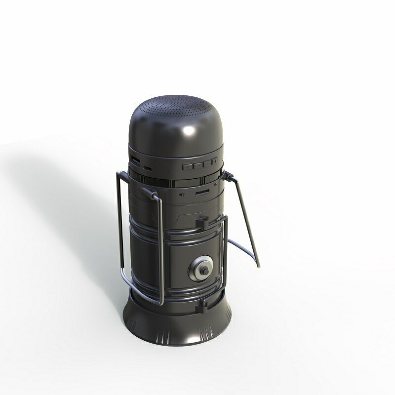 アウトドアスピーカー/キャンプLED照明/携帯電話通話/充電器/ソーラー充電/ラジオ/メモリカード対応など多機能 OutdoorSpeaker