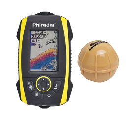 Fish finder カラーLED 防水 無線 フィッシュファインダー 魚釣り ソナー 魚群探知機 日本語表示対応 FF288W