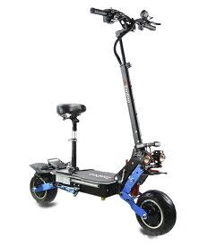 10インチファットタイヤロード電動キックボード 大容量製60V 38.4Ah 6000W駆動力 最大時速100km/h ZOOM油ブレーキ 椅子付き 液晶表示 前後ウインカー搭載 ショックアブソーバー
