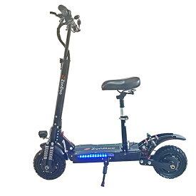 10インチ電動キックボード 52V 28.8Ah 2400W駆動力 最大時速65km/h DYIsland油ブレーキ 椅子付き オフロード 液晶表示 前後ウインカー搭載 ショックアブソーバー