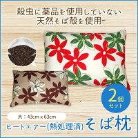 【送料無料】ヒートエアー(熱処理済)そば枕2個セット大サイズ