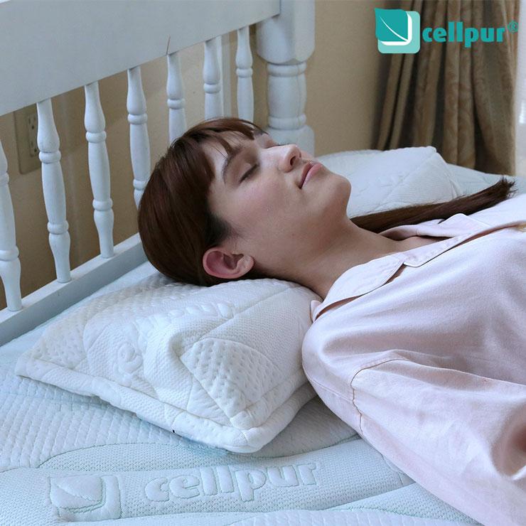 【送料無料】セルプール (cellpur) セルプールピロー 高反発・高密度・高通気・理想の寝姿勢 ストレートネック