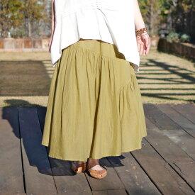 コットンティアードスカート/【エスニックファッション】/レディース/スカート/ティアードスカート/無地/春夏/春物/夏物/エスニック/ロング/ティアード/レディースファッション