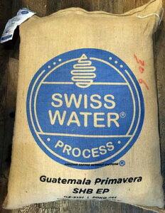 【カフェインレス コーヒー】真水でカフェインを除去!デカフェ グァテマラ【500gパック】スイスウォータープロセス!安全で美味しいデカフェです!