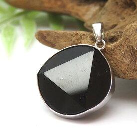 【再入荷】モリオン(黒水晶) ペンダント ネックレス SV925 天然石 パワーストーン モーリオン 六芒星 ヘキサグラム 魔除け