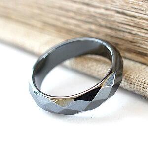 ヘマタイト カットリング 指輪 くり抜きリング 天然石 パワーストーン アクセサリー ジュエリー レディース メンズ 天然石リング パワーストーンリング オススメ