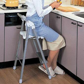 ステップアップチェア ステップチェア 踏み台 調理用チェア 折りたたみチェア 折り畳み 椅子 キッチンチェア 軽量 完成品 日本製
