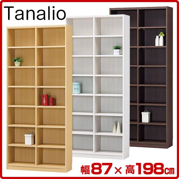 本棚 オープンラック タナリオ 幅87×高198cm TNL-19887 送料無料 Tanalio ブックシェルフ 壁面本棚 カラーボックス 本棚 本収納