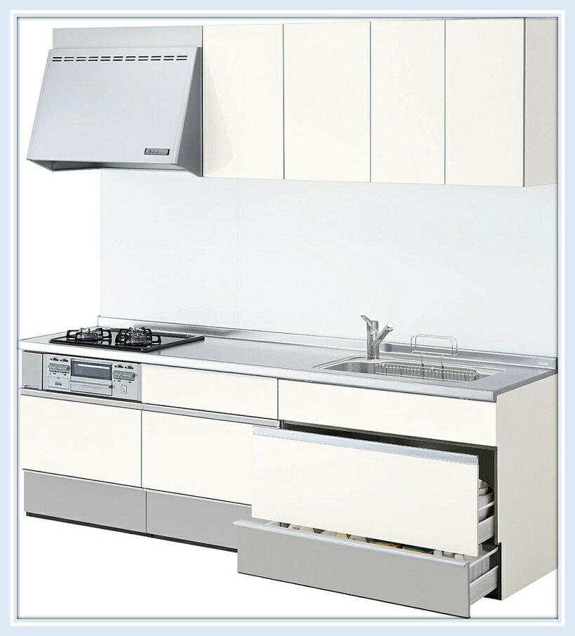 リクシル システムキッチン シエラ 間口1800mスライド(スライドストッカープラン) 送料無料