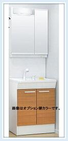 TOTO洗面化粧台 新Vシリーズ W600サイズ エコシングルシャワー水栓+LED照明2面鏡(LDPB060BAGEN1A+LMPB060B2GDG1G)送料無料