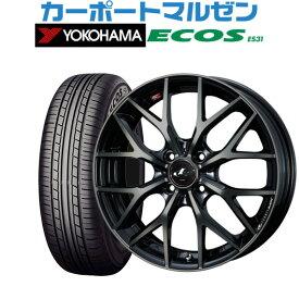 新品・送料無料・4本セットウェッズ レオニス MXパールブラックミラーカット/チタントップ16インチ 6.0Jヨコハマ ECOS エコス (ES31)185/60R16 86H