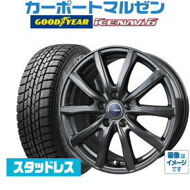 新品スタッドレスタイヤホイール4本セットBADX D,O,S(DOS) GS-1ディープメタル15インチ 6.0Jグッドイヤー ICE NAVI アイスナビ 6 日本製 (2020年製)195/65R15 91Q