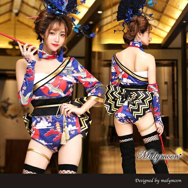 【即納】花魁 コスプレ ミニ 着物 衣装 ドレス kimono 和柄 ダンス 扇 日本 花魁 和服 着物 浴衣 衣装 コスプレ衣装 セクシー ハロウィン コスチューム 仮装 セクシー レディース マリームーン【2915】【あす楽対応】