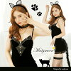 \ sexy black cat costume play ★ / Halloween animal animal pretty costume play cat cat cat cat ear cat headband tail tail ear clothes disguise costume sexy dance clothes sexy dance dress Lady's Mary moon malymoon