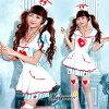 ★ sexy nurse with \ stethoscope! / Halloween costume play Lady's clothes nurse costume big size pretty new work colorful stripe malymoon Mary moon dance clothes cute costume play fake dress stethoscope network tights