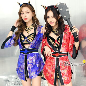 Ogre clothes ogre costume play red ogre clothes blue ogre clothes traditional end of winter ogre clothes おに bean-scattering ceremony ogre Halloween sexy costume uniform clothes costume Halloween costume play disguise costume play clothes Rudegirl malymoo