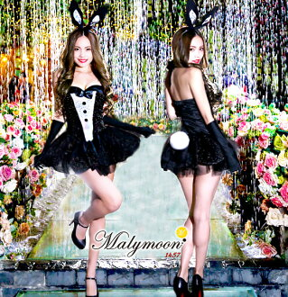 The costume play dress which has a cute \ glitter ★ bunny girl costume play ♪ / Christmas Halloween disguise costume woman clothes bunny rabbit ear headband rabbit sexy lady's big size malymoon Mary moon