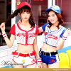 \ baseball girl ★ 2color baseball girl / baseball costume play Halloween clothes sexy costume sports red blue uniform clothes costume short pants hot pants Lady's disguise dance clothes malymoon Mary moon