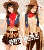 The costume play clothes costume ten-gallon hat western hat disguise dance clothes malymoon Mary moon which \ Toy Story style ♪ cowgirl costume play / Halloween clothes sexy western Lady's has a cute