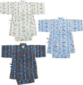子供 甚平 縞とんぼ柄超清涼素材 甚平スーツ 日本製 80cm〜110cm 子ども こども じんべい 05P06Aug16