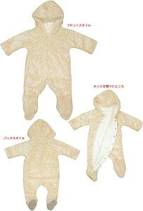 【新生児 ベビー服 ベビーウエア】フード付モコモコおくるみオール(日本製)表ボア素材・裏パイル 05P03Dec16