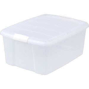 クローゼットボックス ナチュラル MCB-M クリアケース 押入れ収納 クローゼット収納 クリア収納 クリアボックス 収納ケース 収納ボックス 衣装ケース 収納 衣類収納 フタ付き プラスチック