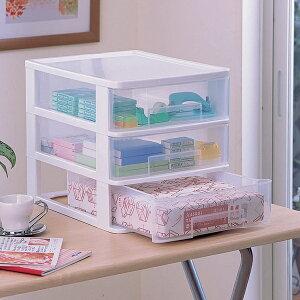 チェスト 《組立不要》テーブルチェスト ET-430 ホワイト【アイリスオーヤマ】(収納BOX・収納ボックス・収納用品・収納ケース プラスチック・押入れ収納・封筒、小物入れの収納や衣替えに