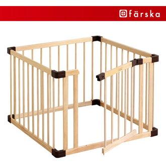 有farusuka木制供婴孩在内爬着玩的携带式围栏结合比赛笔门面板新746055天然