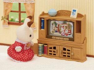 ドールハウス家具お人形遊びままごとエポック社シルバニアファミリーテレビ・テレビ台セットエポック