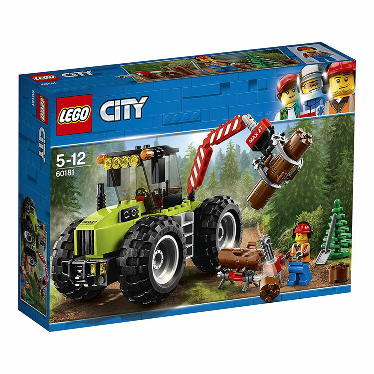 レゴ シティ 森のパワフルトラクター 60181おもちゃ 玩具 ブロック 男の子向け ミニチュア 街 LEGO City ギフト プレゼント レゴジャパン 【TC】