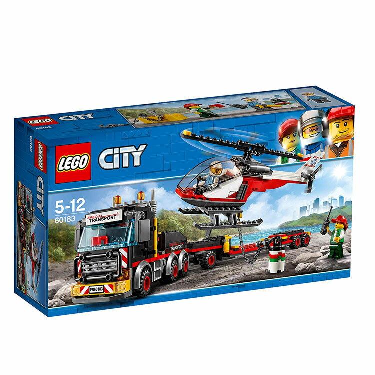 レゴ シティ 巨大貨物輸送車とヘリコプター 60183おもちゃ 玩具 ブロック 男の子向け ミニチュア 街 LEGO City ギフト プレゼント レゴジャパン 【TC】