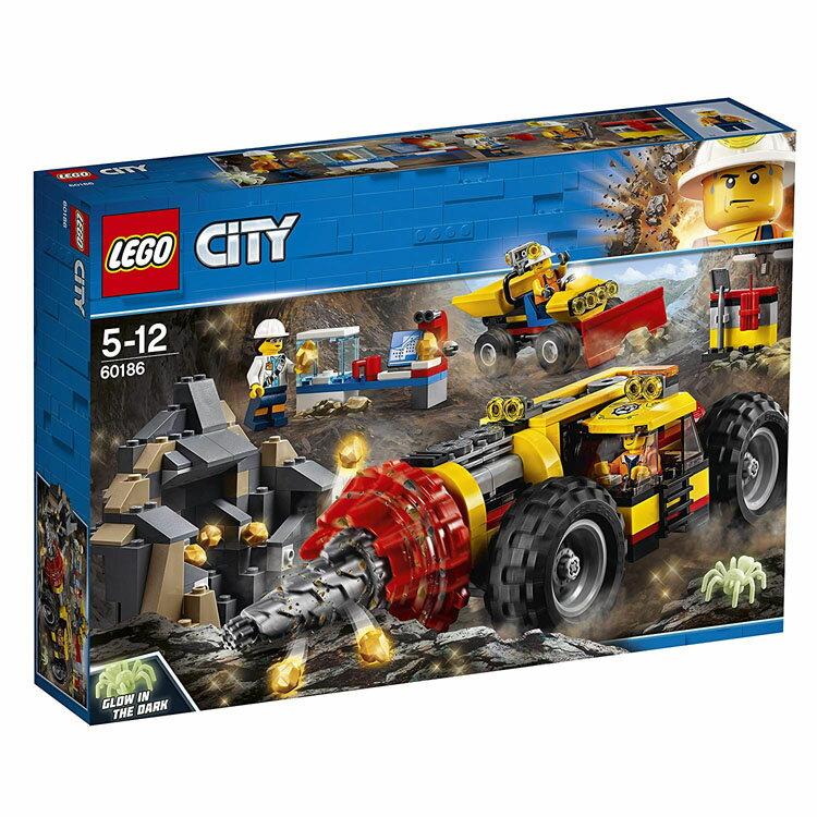 レゴ シティ ガリガリドリルカー 60186送料無料 おもちゃ 玩具 ブロック 男の子向け ミニチュア 街 LEGO City ギフト プレゼント レゴジャパン 【TC】