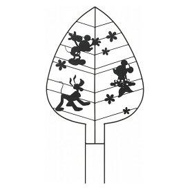 ガーデントレリス リーフ ミッキーマウス&フレンズ ブラック TD-TR02ディズニー Disney ガーデニング 庭 玄関 スチール かわいい 可愛い オーナメント タカショー 【D】