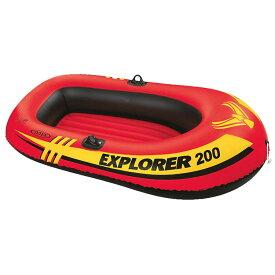 エクスプローラー200ボートセット 58331ビニールボート ボート 子供用 2人乗り 2人 手漕ぎ プール 海 インテックス INTEX 【D】