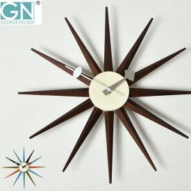 掛け時計 【時計フック付き】 正規ライセンス取得 George Nelson ジョージ・ネルソン サンバーストクロック ネルソンクロック 時計 壁掛け時計 おしゃれ ウォールクロック デザイナー リビング 大型 モダン インテリア雑貨 復刻版 リプロダクト 贈り物