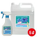 【大容量洗浄用 アルカリイオン水 100% 家庭用 洗浄剤 さっと一拭き『さっとクリヤ 5L スプレーボトル 付 セット』 タバコ ヤニ 汚れ …