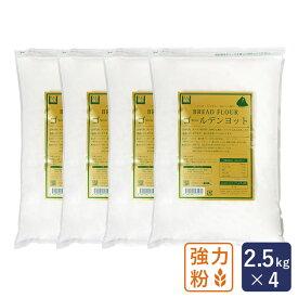最強力粉 ゴールデンヨット パン用小麦粉 2.5kg×4(10kg)_ ハロウィン