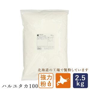 強力粉 ハルユタカ100 2.5kg 北海道産 国産パン用小麦粉 国産小麦粉 _