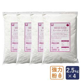 強力粉 まとめ買い スーパーノヴァ(1CW) パン用小麦粉 2.5kg×4(10kg)_ マラソン お買い得 ハロウィン 敬老の日