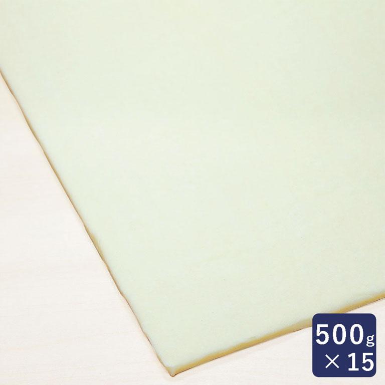 冷凍パン生地 業務用 ISM 発酵バタークロワッサンシート 1ケース 500g×15 _