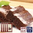 ミックス粉 米粉チョコブラウニーミックス粉 120g×4 グルテンフリー 小麦粉不使用【ゆうパケット/送料無料】_