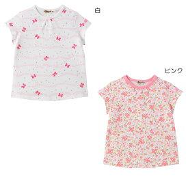 【ホットビスケッツ】星とリボン&小花柄半袖Tシャツ(70cm-110cm)