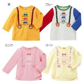 【ホットビスケッツ】サスペンダープリント長袖Tシャツ(100cm-110cm)